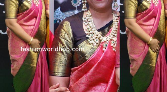 Hiya Jewellery Designer Swetha Reddy in Polki diamond bottu Haram!