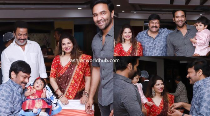 Chiranjeevi at Manchu Vishnu Diwali bush party!