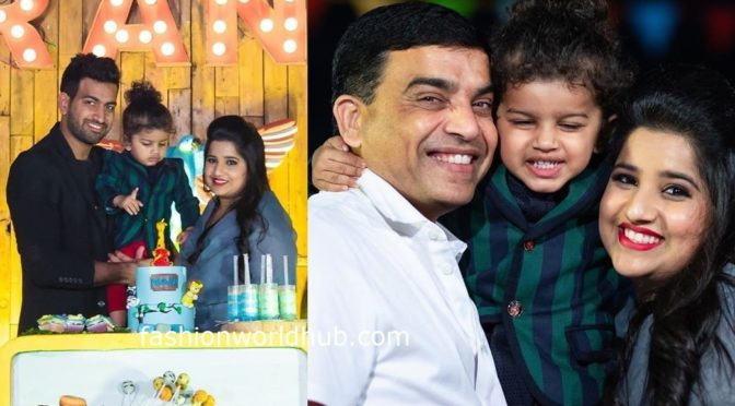 Director Dil raju Grandson Aransh's Second birthday photos!