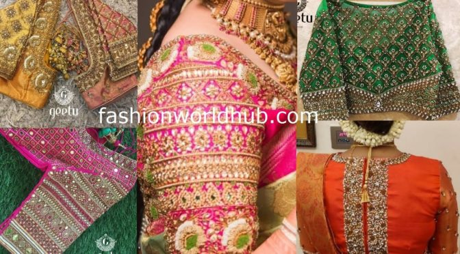 Bridal work blouses by Geetu Designs