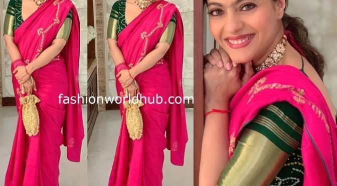 Kajol in a Traditional saree!