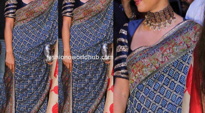 Natasha Poonawalla in Manish malhotra bandhini saree!