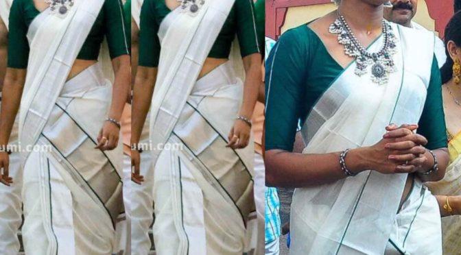 PV Sindhu in a traditional Kerala saree