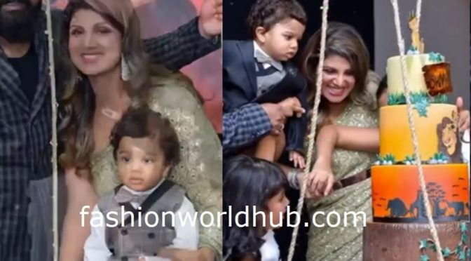 Actress Rambha's son Shivin First birthday photos!