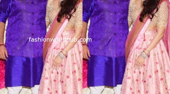 Mukesh Ambani and Shloka Meheta in Traditional outfits for Diwali party