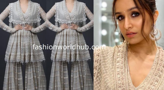 Shraddha kapoor in a Sharara Suit by Tarun Tahiliani
