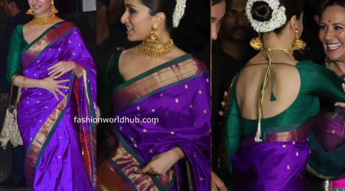Sahoo actress Shraddha Kapoor in Traditional saree!