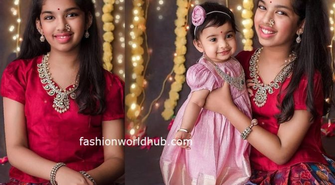 Sreeja Kalyan's daughter's in Traditional outfit!