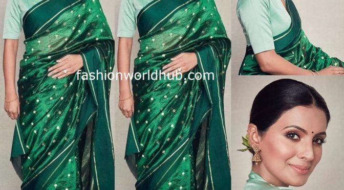Geeta Basra in Raw Mango Saree