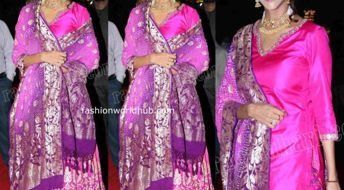 Lakshmi Manchu at Archana and Jagdeesh wedding reception