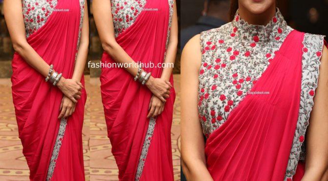Lakshmi Manchu in a Red saree!