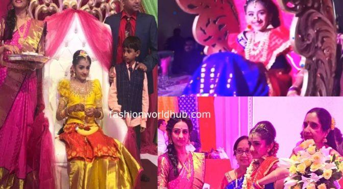 Actress Laya daughter Sloka's half saree function photos!