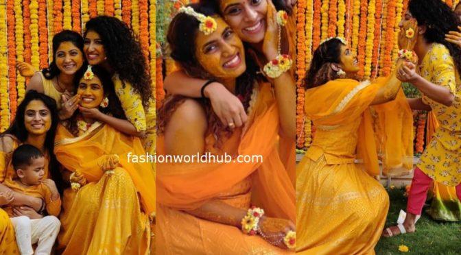 Actress Sameera Sherief Haldi ( Pasupu) function photos!