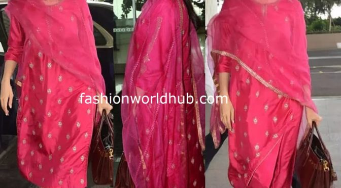 Deepika Padukone in Pink Salwar suit!