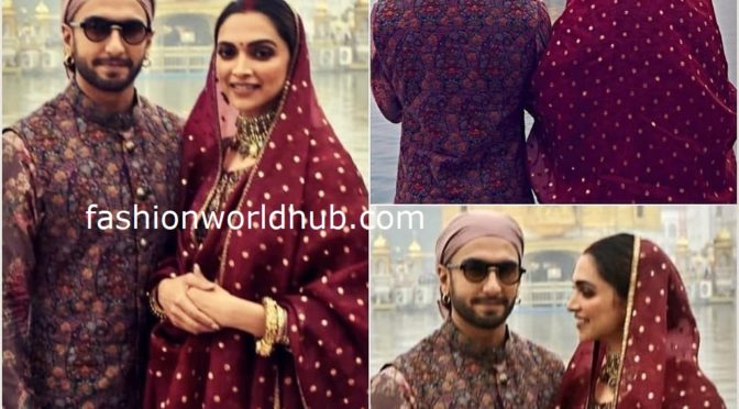 Deepika Padukone and Ranveer Singh at the Golden Temple