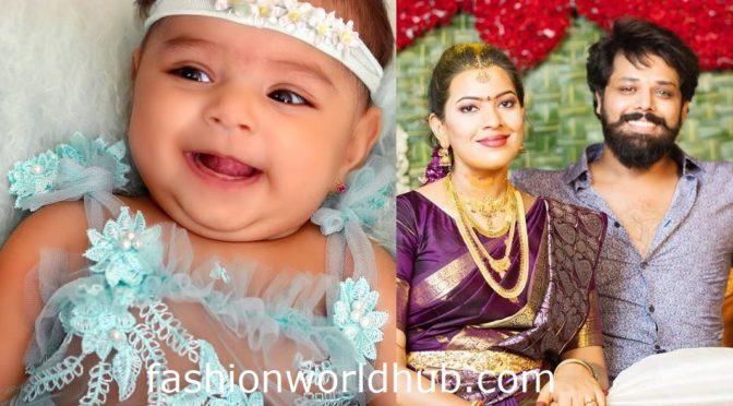 Cute pics of Singer Geetha madhuri and Nandu's daughter!