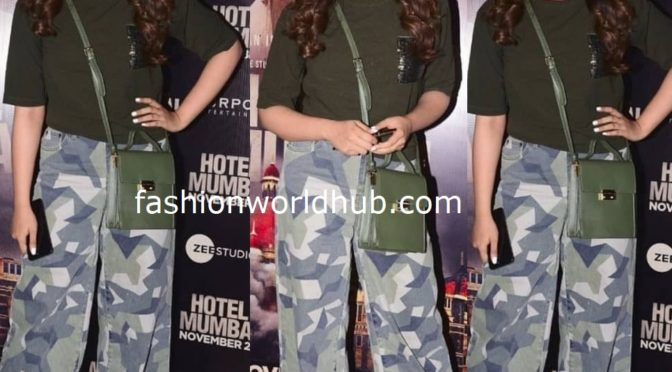 Nupur Sanon at the screening of Hotel mumbai movie!