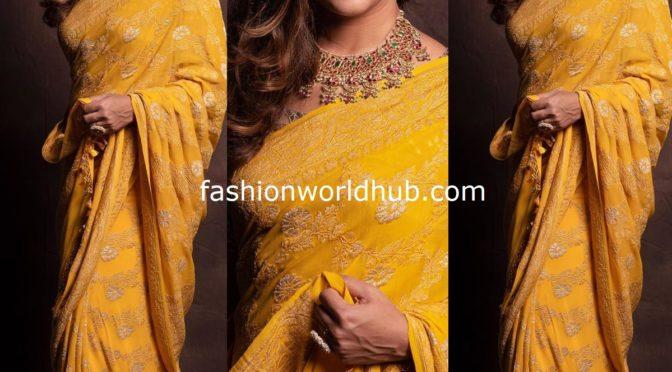 Upasana Konidela in a Yellow saree!