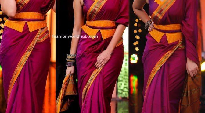 Anasuya Bharadwaj in a Handloom saree!