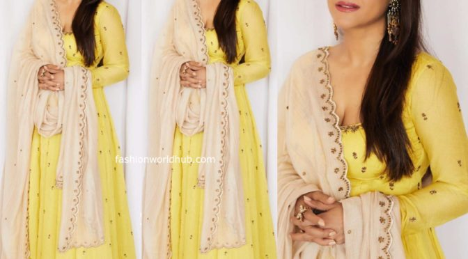 Kajol in Astha Narang Anarakali suit!