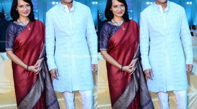 Nagarjuna and Amala at a Wedding Reception!