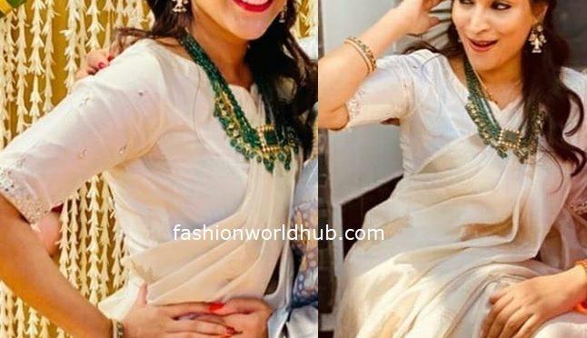 Aishwarya Rajanikanth in Emerald beads haram!