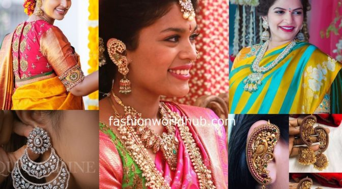 50 Mind blowing Gold and diamond Jhumkas designs!