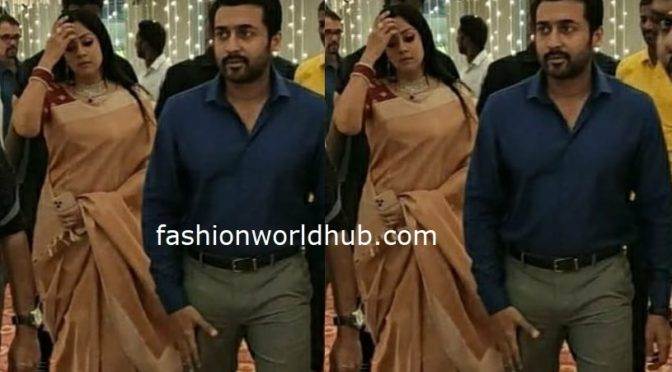 Surya and Jyothika at a recent wedding reception!