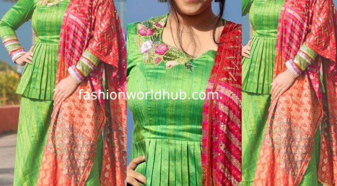 Nithya Menon in Green Sharara Suit!