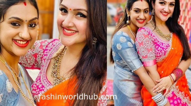 Pritha Hari and sridevi vijaykumar at a recent wedding!