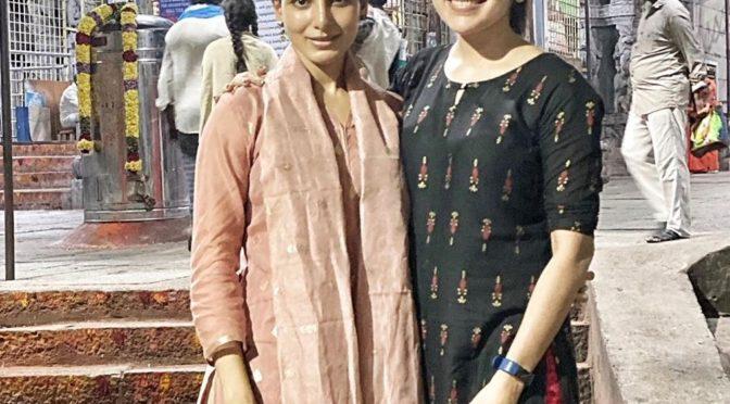 Samantha and Ramya at Tirumala!