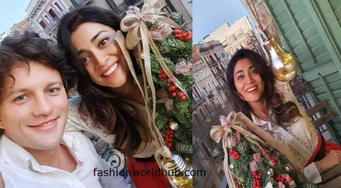 Shriya Saran celebrates Christmas in Barcelona.