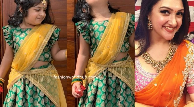 Sridevi vijaykumar daughter rupika in green lehenga!
