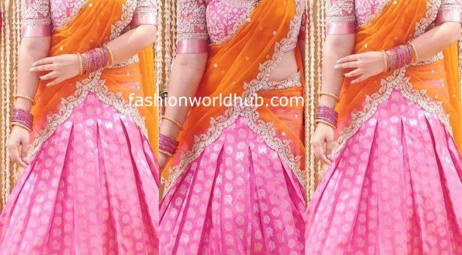 Sridevi vijaykumar in a Pink Lehenga!