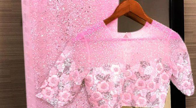 Designer saree with designer blouse!