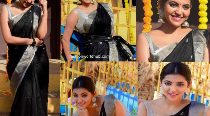Athulya Ravi's Saree Look!
