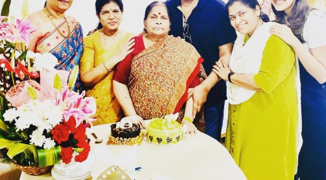 Chiranjeevi's Mother birthday celebration photos