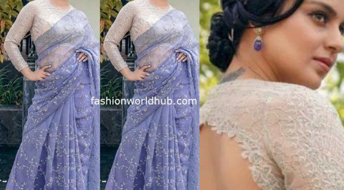 Kangana Ranaut in Lavender saree!