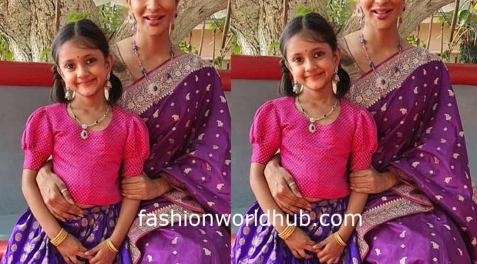 Lakshmi Manchu and her daughter in Traditional outfit!