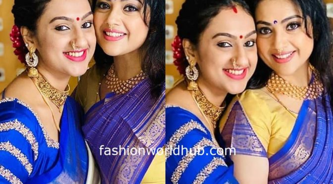 Pritha Hari and Meena in a Traditional saree!