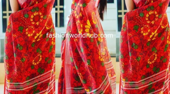 Rashmi Gautam in Linen saree!
