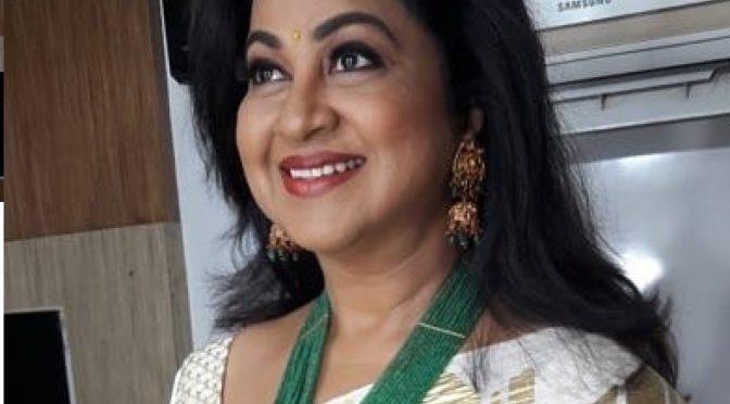 Radhika sarath kumar in Emerald beads haram!