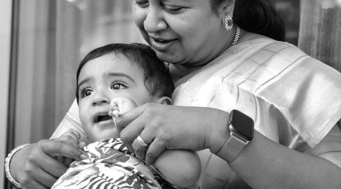 Radhika Sarathkumar with her grand son!