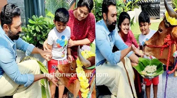 Actress Sneha family Pongal celebration photos!