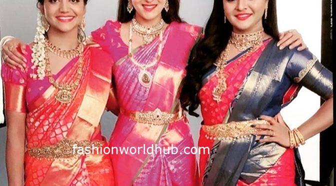Shiva Jyothi, himaja and Rohni in Traditional saree!