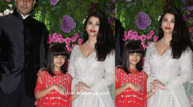Aishwarya, Abhishek & Aaradhya at Armaan Jain's Wedding