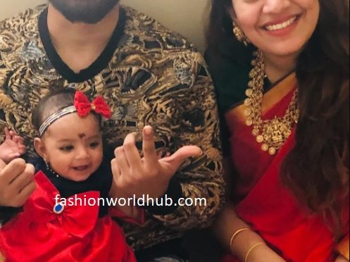 Geetha madhuri and her daughter in Matching outfit!
