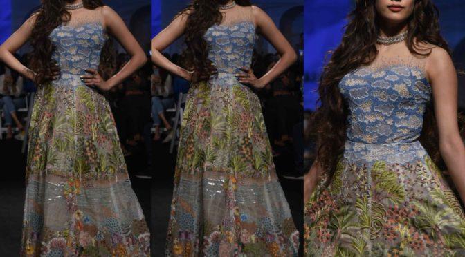 Janhvi Kapoor in Rahul Mishra at Lakme Fashion Week 2020