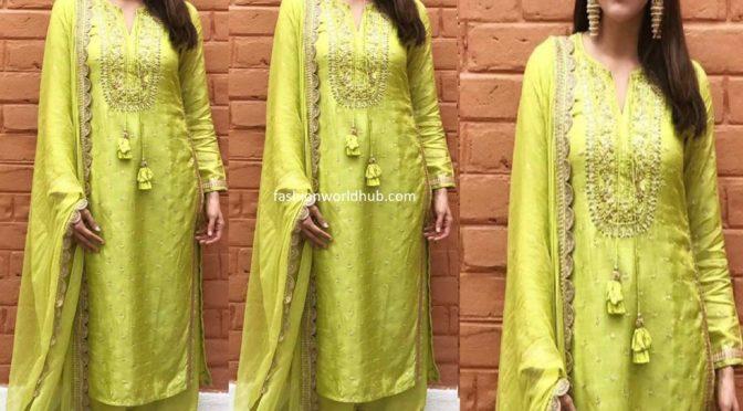 Kajal Aggarwal in green kurta palazoo!