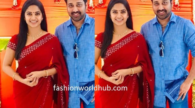 Madhumitha and Siva balaji at Vadde Naveen Son's Pancha kattu ceremony!